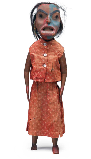 Haida doll attributed to the so-called Jenna Cass carver, early nineteenth century.