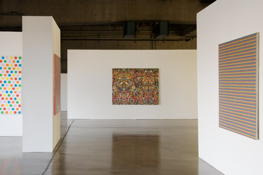 "Peter Young, ""Capitalist Masterpieces,"" installation view."