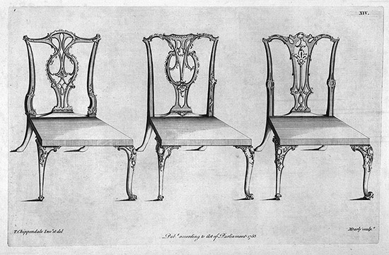 Page from Thomas Chippendale's The Gentleman and Cabinet-Maker's Director (1762).