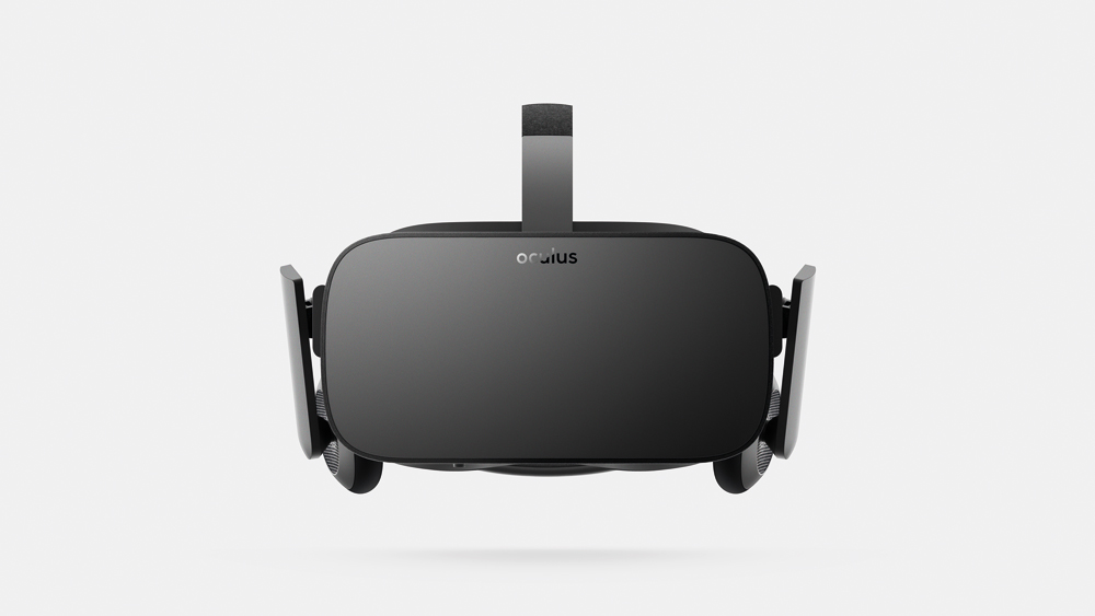 Oculus Rift headset, 2015.